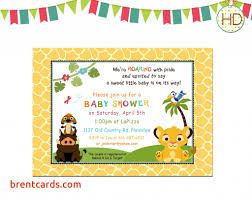 baby lion king baby shower jungle baby shower invitations free card design ideas