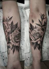black and gray rose tattoo artist janissvars rose tattoo