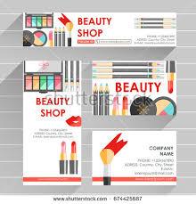 cosmetic brochure products like mascara foundation imagem vetorial