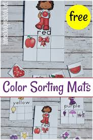 printable color sorting mats and cards for preschoolers