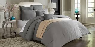 cannon 7 piece vintage wash linen look comforter set u2013 grey stone