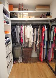 interior innovative walk in closet for small spaces that steal