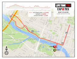 Austin Marathon Map by Course