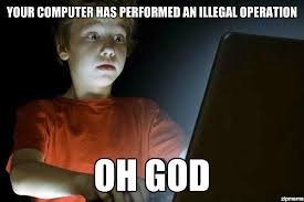 Kid On Computer Meme - top threats that children face online and how to deal with them
