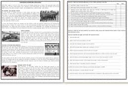 wwi u0026 wwii reading comprehension worksheets by mariapht teaching