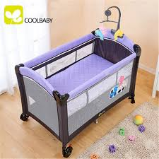Baby Crib Side Bed Environmental Protection Multifunctional Folding Baby Crib Infant