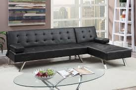 Leather Sectional Sofa Bed by 59 Black Leather Sectional Sofa Eden Black Leather Small Regarding