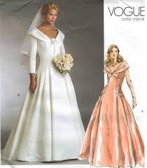 vogue wedding dress patterns vogue pattern 2944 bridal original wedding gown bridesmaid sizes 6