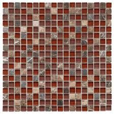 merola tile tessera mini bordeaux 11 3 4 in x 11 3 4 in x 8 mm