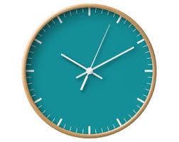 Scandinavian Wall Clock Neutral Solid Wall Clock 5 Colors Silver Wood Clocks