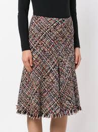 tweed skirt mcqueen flared tweed skirt 1 495 buy aw17 online