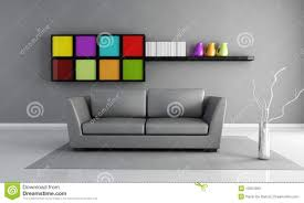 Grey Interior Violet Living Room Stock Photo Image 8109110