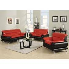 sofa loveseat and chair set tosh furniture modern leather black and red sofa set