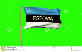Estonian Flag Estonia Flag With Title Waving In The Wind Video Footage 51511330