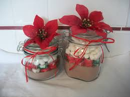 quick christmas gift craft cocoa jars