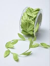 wedding gift bows ribbon green leaf ribbon wedding favors bow supplies diy wedding