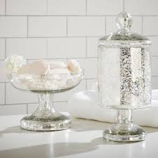 Glass Bathroom Accessories by Recycled Glass Bath Accessories Pottery Barn