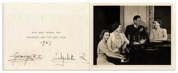 lot detail king george vi u0026 queen mother elizabeth signed 1947