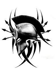 tribal spartan trojan helmet tattoo design photo 2 real photo