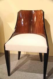 Art Deco Chaise Six Chaises Gondole Art Déco En Palissandre De Rio Six Art Deco