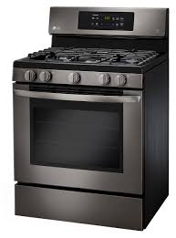 lg 5 4 cu ft single oven gas range black stainless bj u0027s