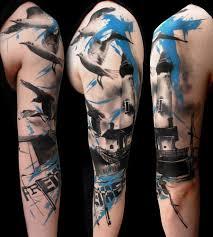 nautical realistic trash polka tattoo by buena vista