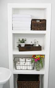 Bathroom Shelf Over Toilet by Cool Bathroom Shelves Made Over Toilet White Wooden Shelves Black