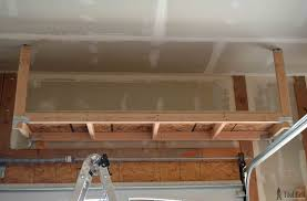 Building Wooden Shelves In Garage by How To Build Garage Storage Shelves On The Cheap Garage Storage