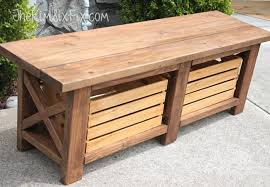 Diy Storage Bench Plans by Bench With Storage Diy Pleasant On Interior Design Ideas For Home