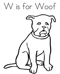 dogs coloring pages woof free alphabet coloring pages dog
