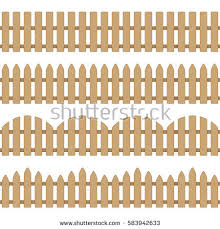 Different Types Of Fencing For Gardens - different types seamless wooden fence set stock vector 583942633