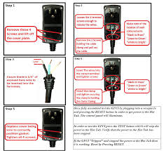 120v gfci how to replace a gfci head on a plug u0026 play spa