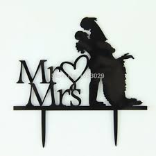 aliexpress com buy romantic bride u0026 groom silhouette black cake