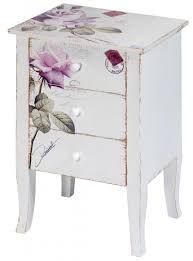 Bedside Table Ls Home Design Glamorous Shabby Chic Bedside Table 25124 3 Drawer