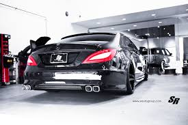 stanced jeep slammed mercedes benz cls by sr auto looks menacing performancedrive