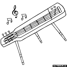 musical instruments coloring pages 2
