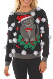 cat sweater s cat sweater w bells tipsy elves