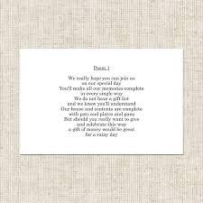 wedding gift poems marble blush poem card wedding stationery