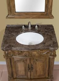 30 Inch Bathroom Vanities by 30 Inch Brown Green Single Bath Vanity With Marble Top