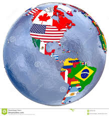 Map Americas by Political Americas Map Stock Illustration Image 69781906