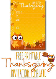 free printable invitations thanksgiving invite template