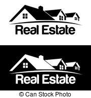 abstract house logo design template colorful real estate