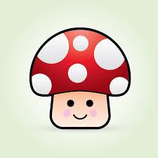 create cute vector mushroom character mushrooms