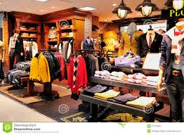 clothes shop men s fashion clothes shop editorial stock photo image of colors