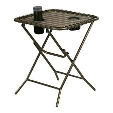 side table side folding table tables i home round iron small