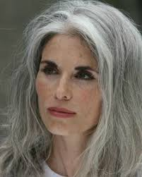 grey hair in 40 s love long grey hair and the evening high drama makeup here d
