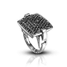 black sapphires rings images John hardy sterling silver classic chain collection cushion black jpg