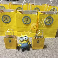 minion gift bags diy minion thank you cards world of