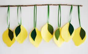 do that lemon birthday decorations made from felt