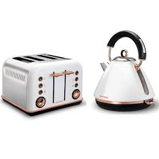 Morphy Richards Accents Red 4 Slice Toaster Morphy Richards White Accents Rose Gold Kettle U0026 4 Slice Toaster